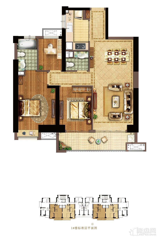 110㎡:3房2厅2卫