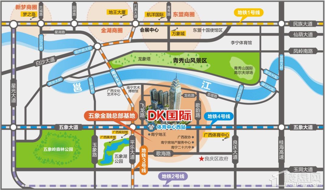 DK国际位置图