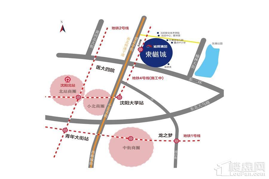 旭辉东樾别墅位置图
