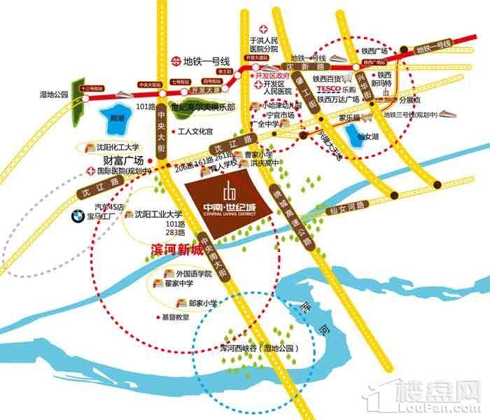 中南世纪城位置图
