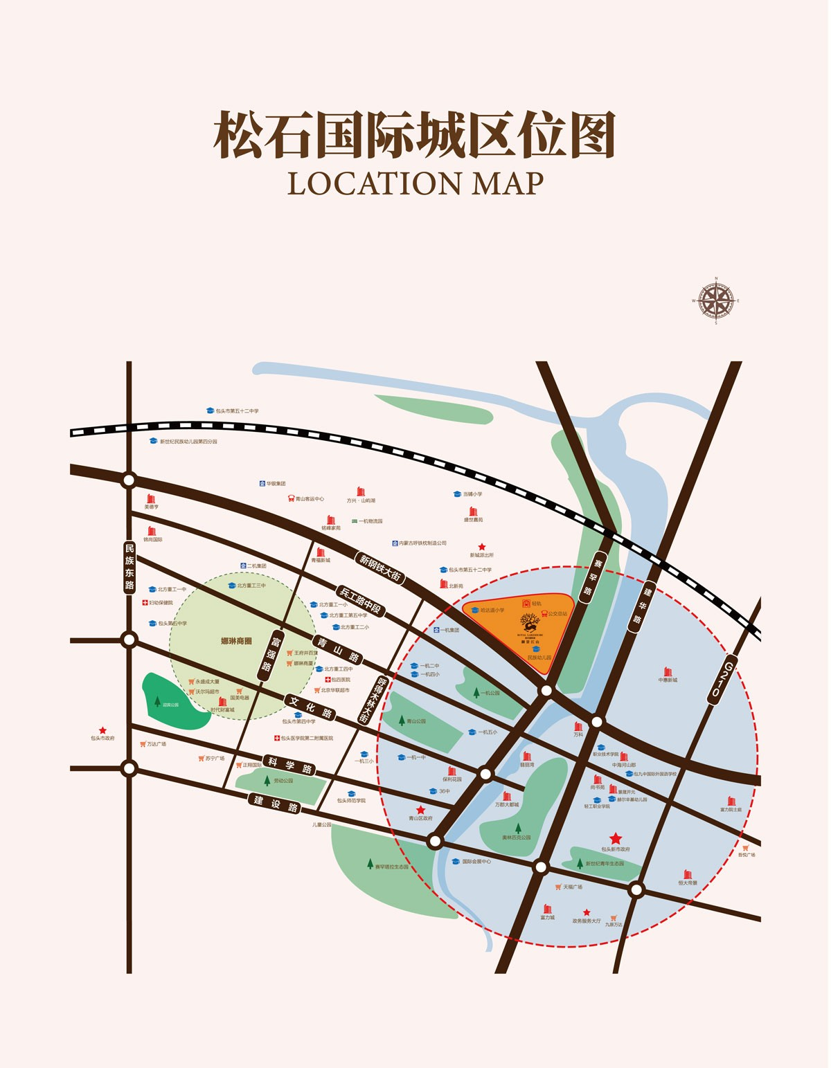 松石·御景江山位置图
