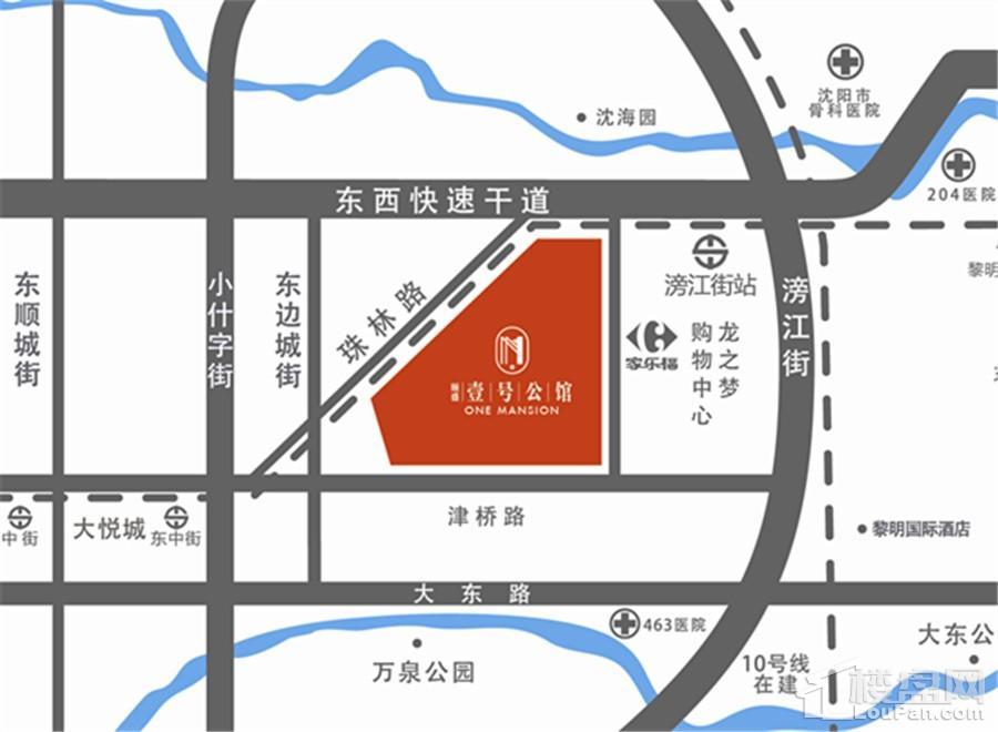 颐盛壹号公馆位置图