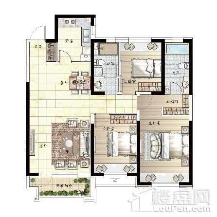 125平 3室2厅2卫G户型