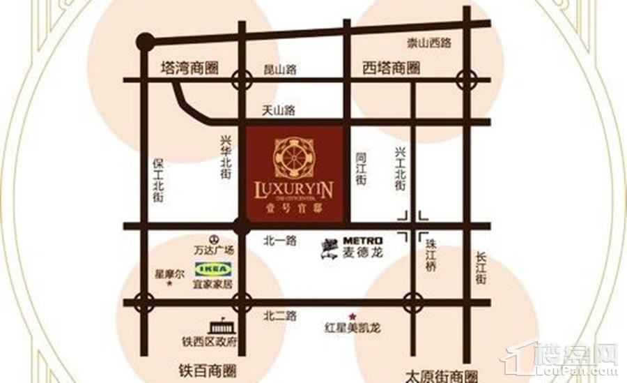 碧桂园峯华盛京位置图