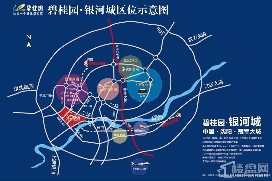 碧桂园银河城 位置图