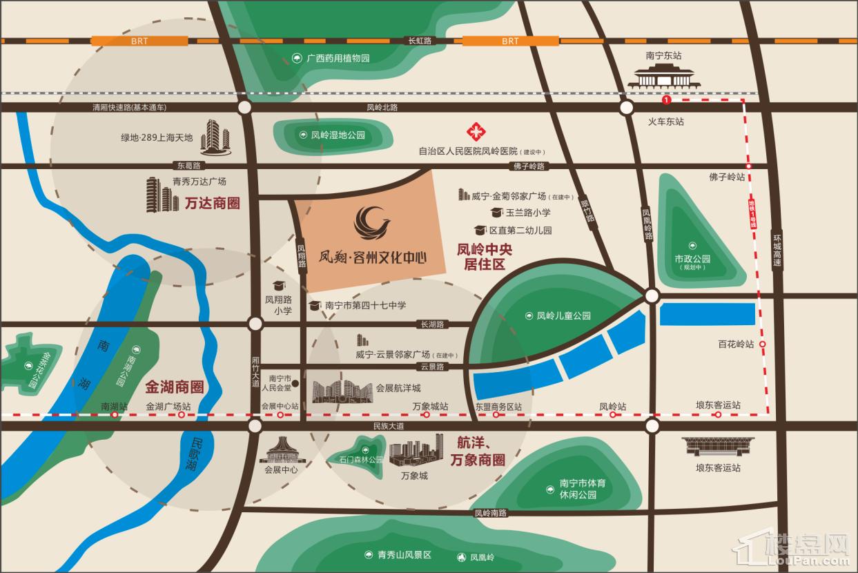 凤翔·容州文化中心位置图