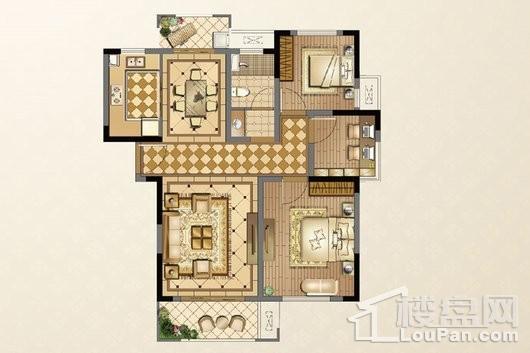 廊桥公馆105-107㎡ 3室2厅1卫1厨