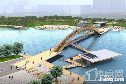 廊桥公馆花桥中央水景公园