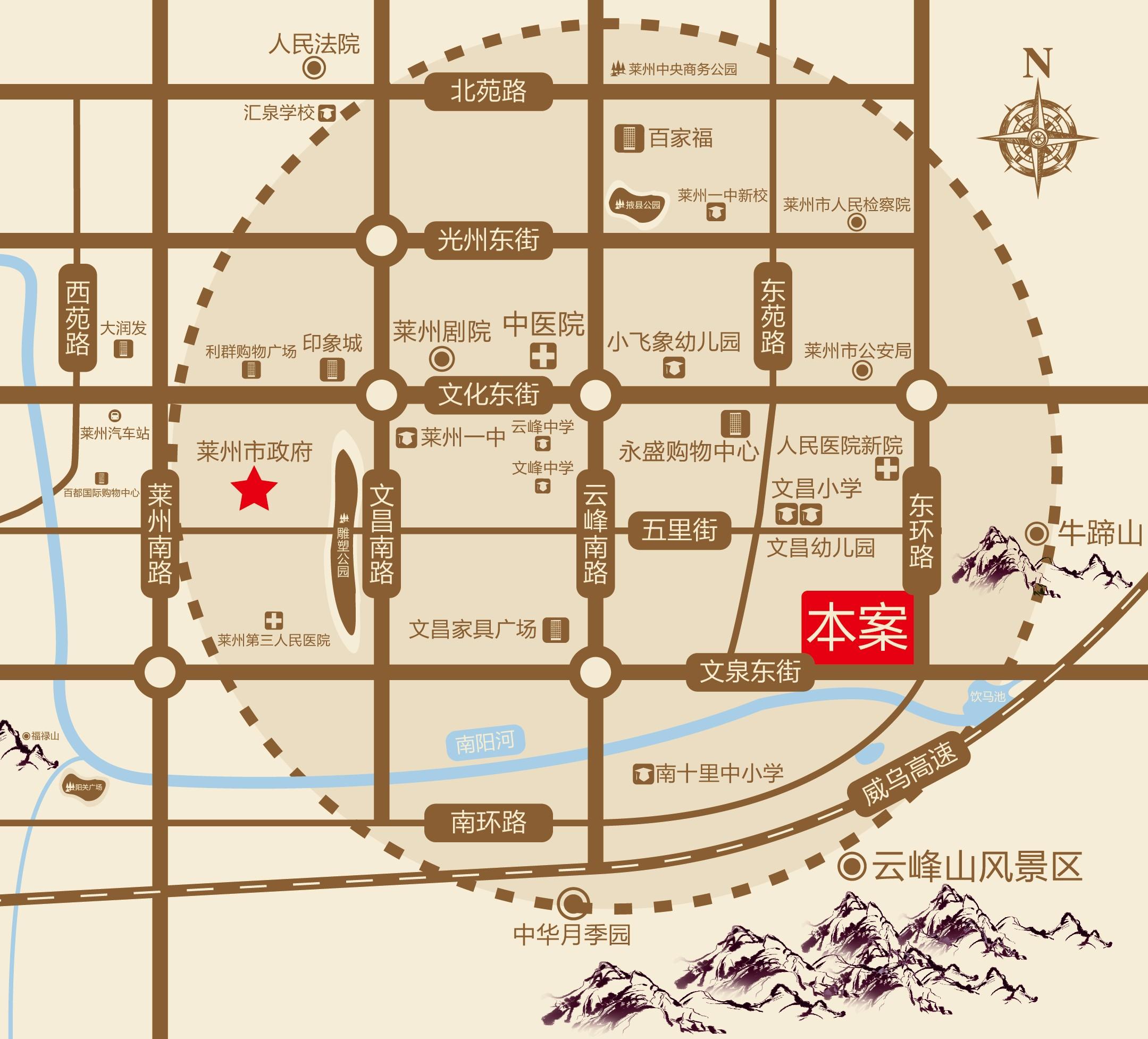 碧桂园莱凤台位置图