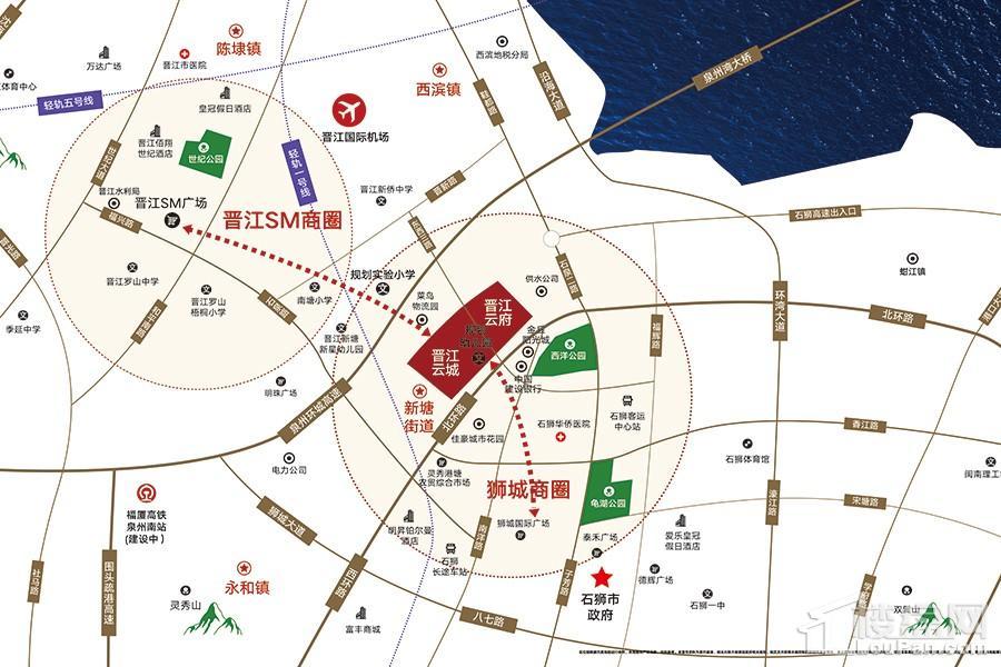 晋江云府位置图