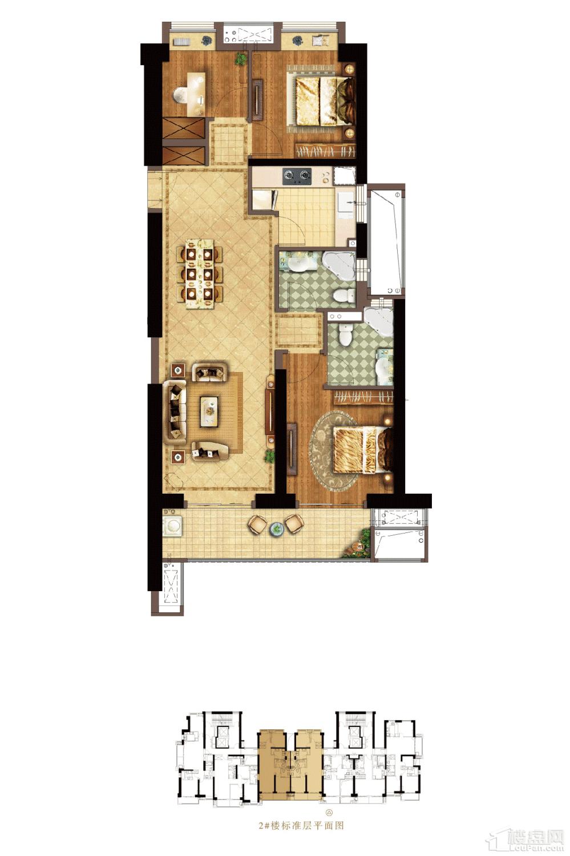 依云轩2#A01户型:111㎡三房两厅两卫