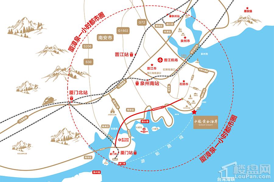 中骏黄金海岸位置图
