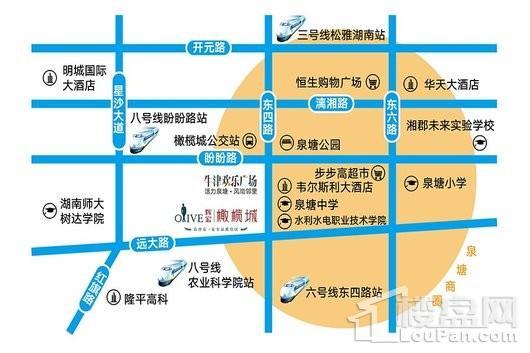 牛津欢乐广场交通图