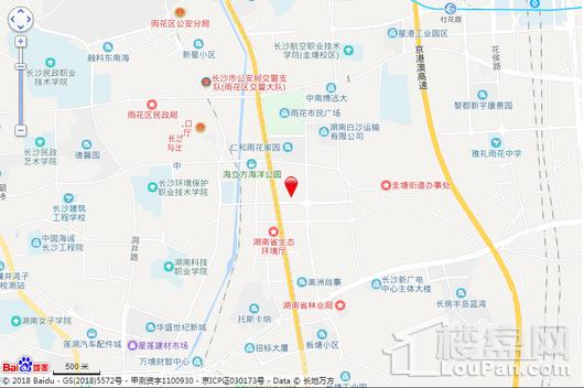 潇湘名城三期交通图