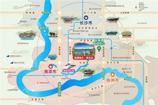湘潭恒大养生谷交通图