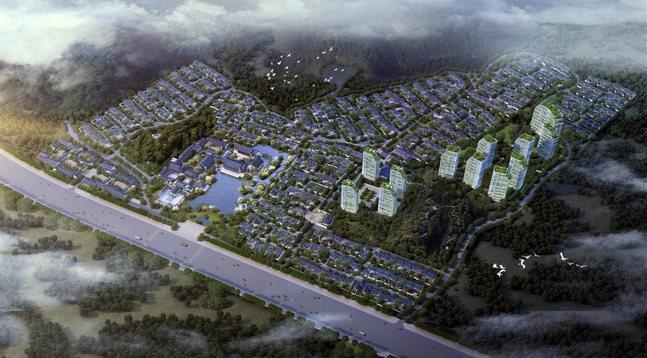 黄山·绿城桃李春风效果图