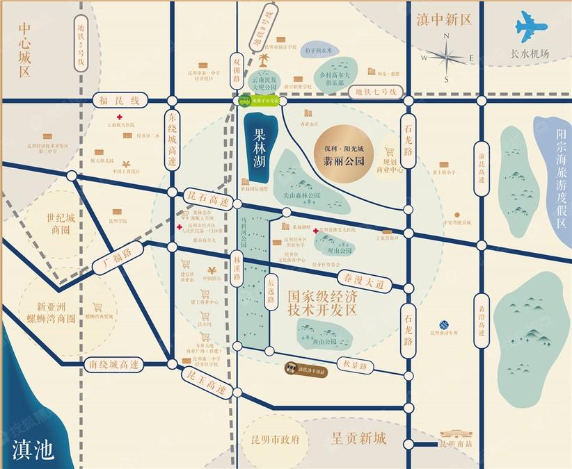 保利·阳光城·翡丽公园位置图