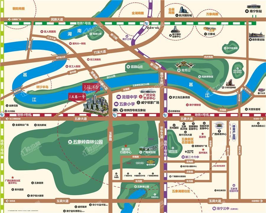 汉军冠江台位置图