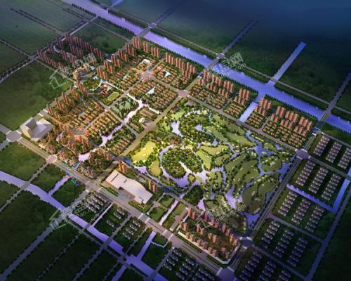 杭州湾合生杭州湾国际新城效果图