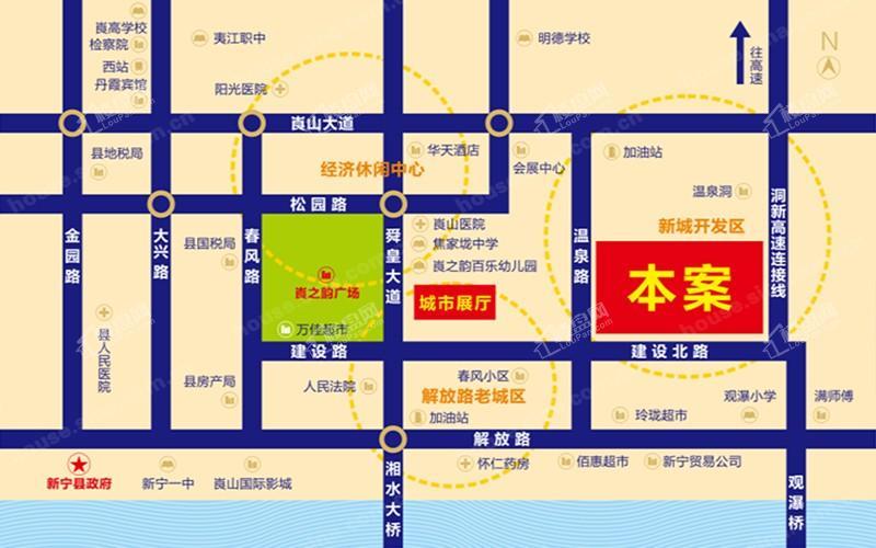 胜华·山水豪庭位置图