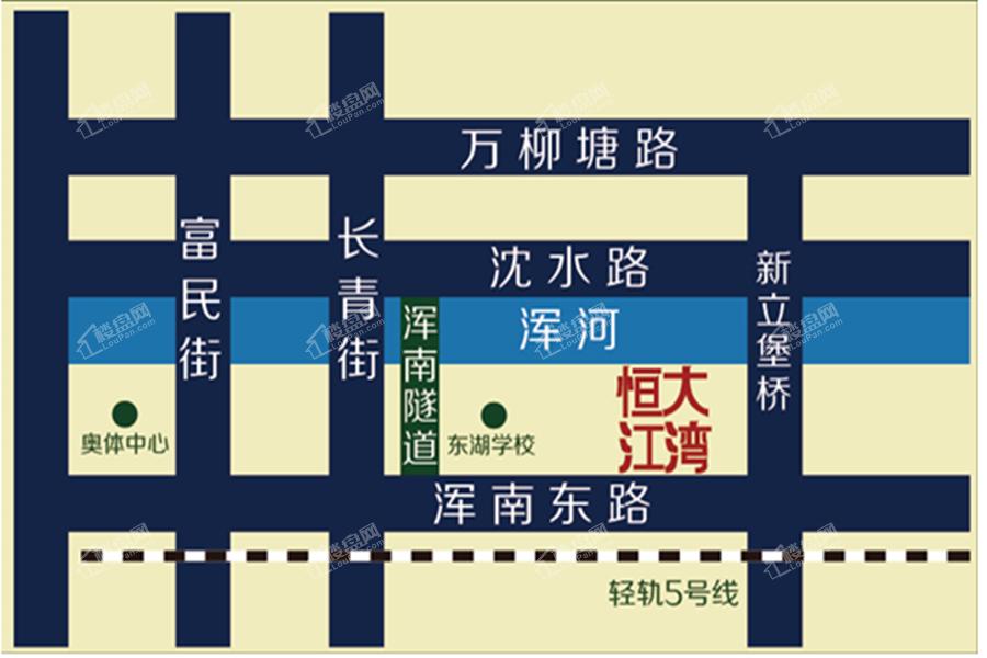 恒大江湾位置图