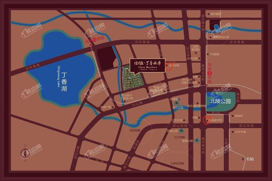 中铁丁香水岸位置图