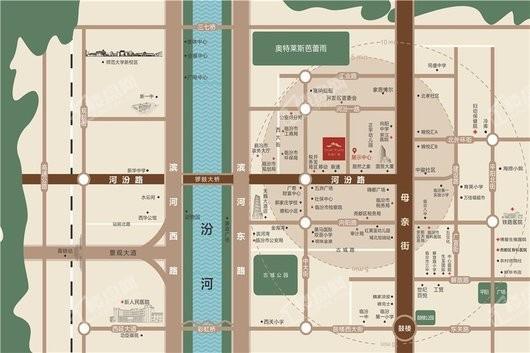 泰和广场区位图