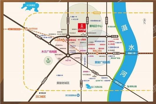 百秀城交通图