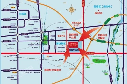 恒信东方之珠交通图