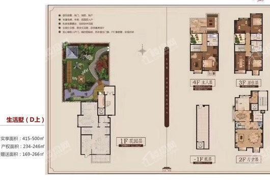 山语墅生活墅D上 3室3厅4卫1厨
