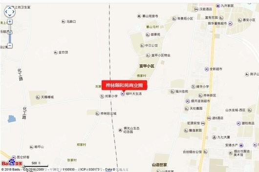 桦林颐和苑商业圈交通图