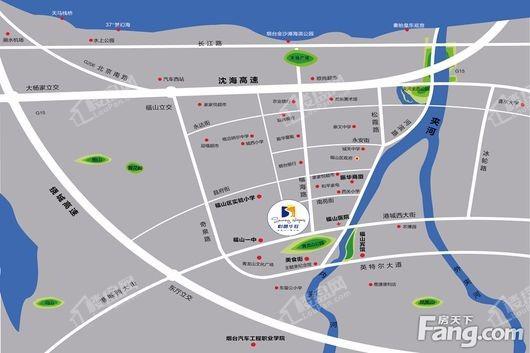 怡馨华庭商铺交通图