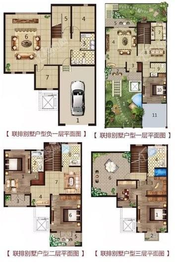 天越湾别墅户型图