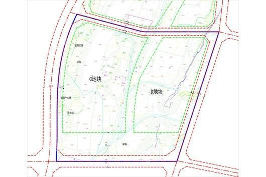峰山水库周边地块起步区项目交通图