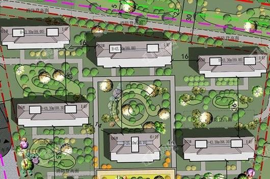 丰田旧村改造地块效果图