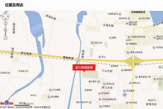蓝光雍锦锦湖商铺交通图
