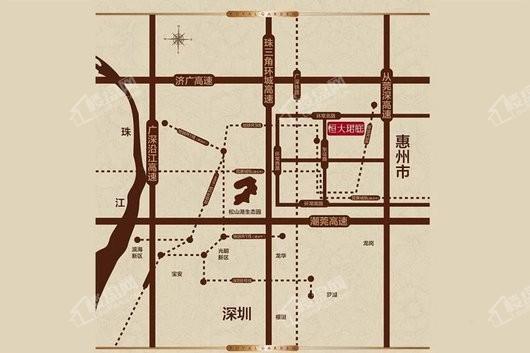 恒大珺庭交通图