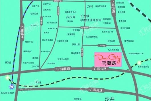 鼎峰·花漫城交通图