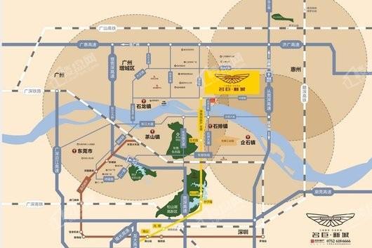 名巨新城交通图