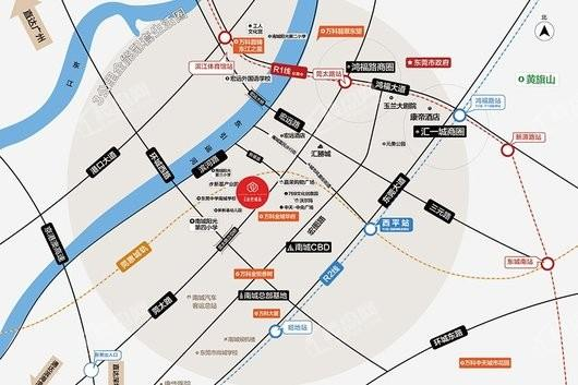 万科金色城品交通图
