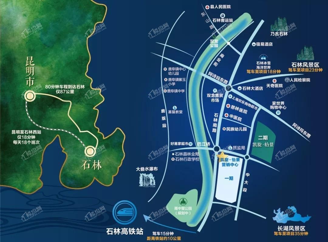 凯旋怡景(凯旋城二期)位置图