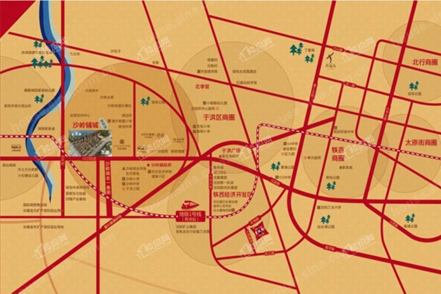 金沙城位置图
