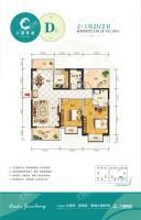 D户型 2+1房两厅两卫 100.28-101.26㎡