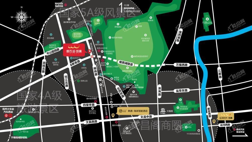瘦西湖朗寓位置图