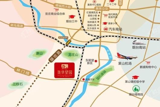 珑泉望园交通图