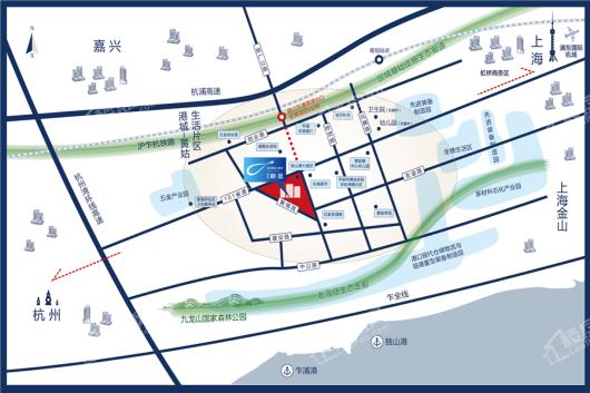 碧桂园·蔚蓝交通图