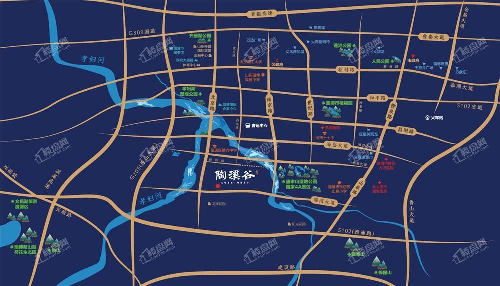 陶溪谷位置图