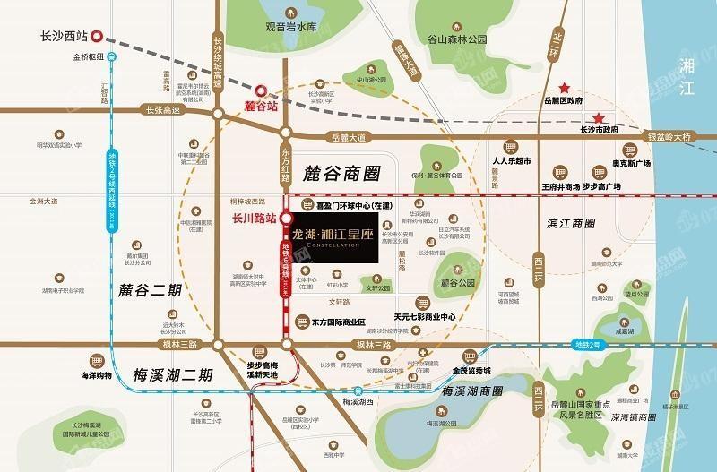 龙湖湘江星座位置图