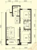 92平2室2厅1卫户型