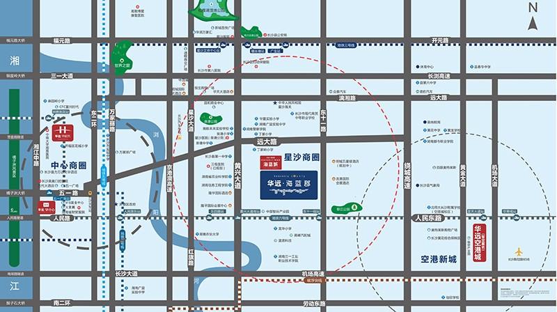 华远·海蓝郡(亚博下载链接)位置图